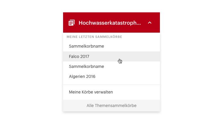 ORF Admin Dashboard Menu dropdown Material Design