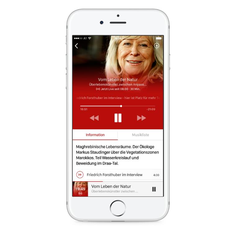 ORF Ö1 Radio iOS App live broadcast