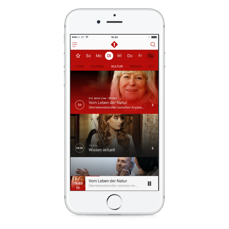 ORF Ö1 Radio iOS App Sendung broadcast live ticker