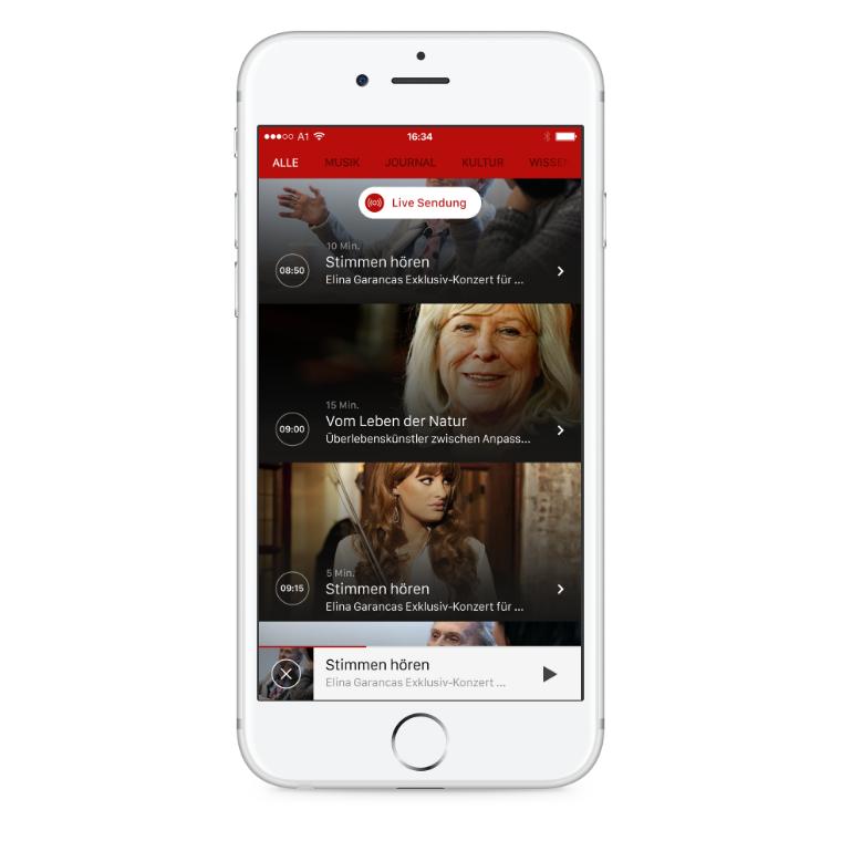 ORF Ö1 Radio iOS App Sendung broadcast
